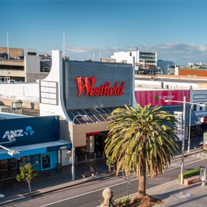 Forest Road Hurstville showing the retail activity and Westfield